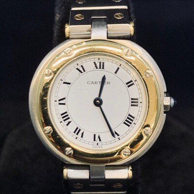 Cartier Santos Ronde, Gold/Steel, 27MM, BOX ONLY - MINT