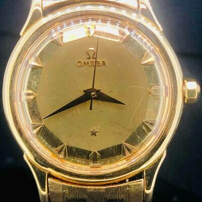 Omega Constellation Pie-Pan Vintage, Yellow Gold, 35MM, Bumper 354