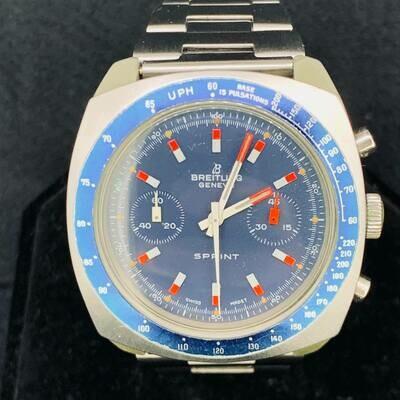 Breitling Sprint Chronograph Ref:2016 Blue Dial Vintage Fiberglas Case
