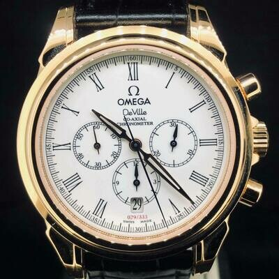 Omega De Ville Chronograph Rose Gold Escapement Co Axial Limited Edition