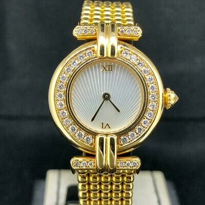 Cartier Colisee Yellow Gold Factory Diamond Bezel MOP 'Sunshine Dial
