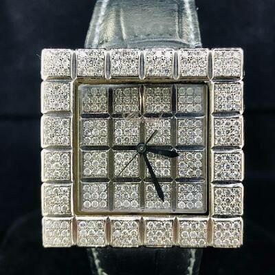 Chopard Ice Cube XL White Gold 31MM Full Diamond Set (Custom)