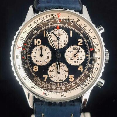 Breitling Navitimer Airborne Chronograph Steel Automatic Blue Dial 38m