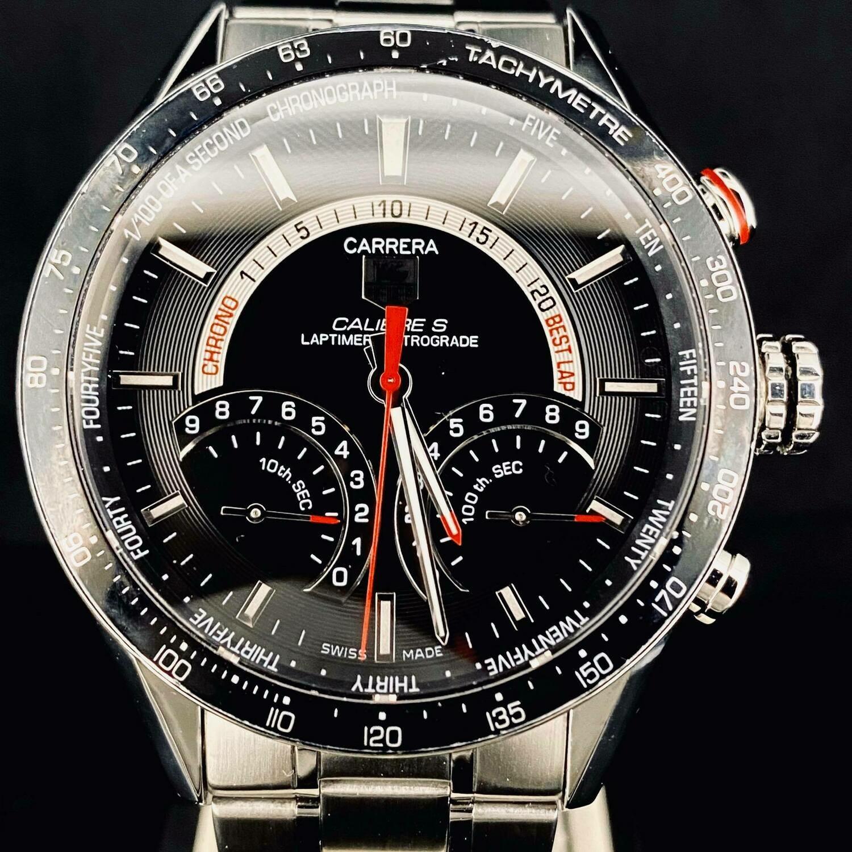 TAG Heuer Carrera Calibre S Laptimer Retrograde Chronograph 43MM Steel