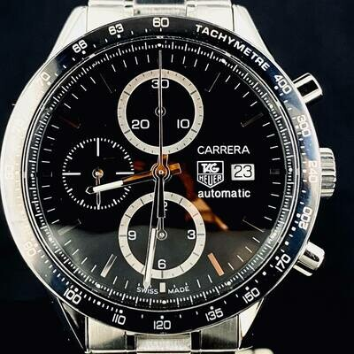 TAG Heuer Carrera Calibre 16 Chronograph Automatic Steel 42MM B&P MINT
