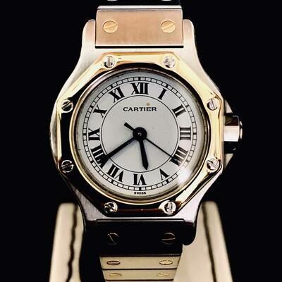 Cartier Santos Ronde Gold / Steel 24mm Mint