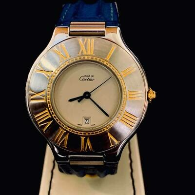 Cartier 21 Must de Cartier 34mm Mint
