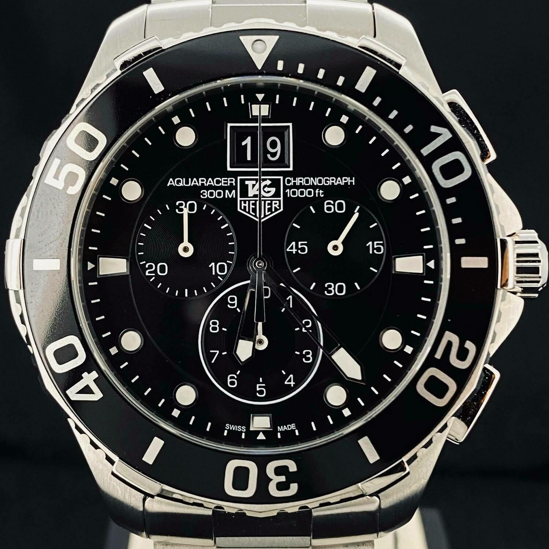 TAG Heuer Aquaracer 300M Grande Date Chronograph 43MM Steel Quartz