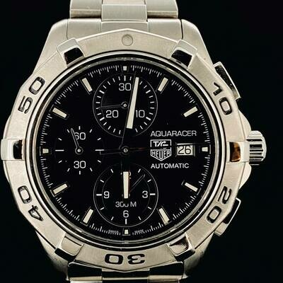 TAG Heuer Aquaracer 300M Automatic Chronograph Steel Date 43MM B&P