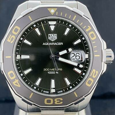 TAG Heuer Aquaracer 300M Full Steel Olive Green Ceramic Quartz Unworn