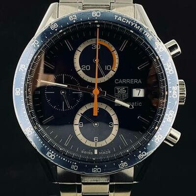 TAG Heuer Carrera Calibre 16 Blue Dial Chronograph Automatic Steel 41M