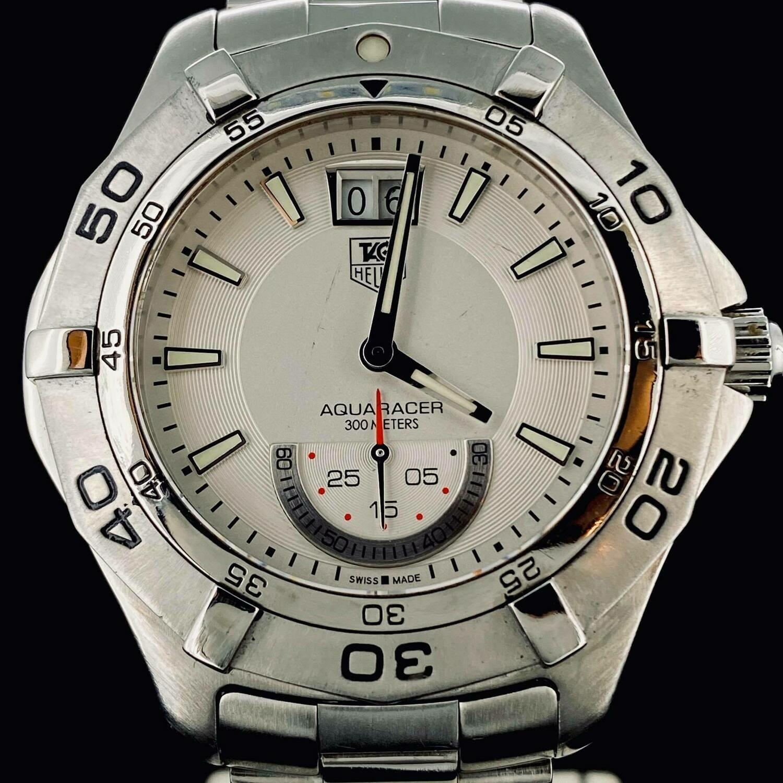 TAG Heuer Aquaracer 300M Steel Grande Date 41MM Quartz Small Seconds