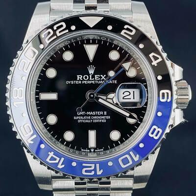 "Rolex GMT-Master II ""Batman/Batgirl"" 40MM Steel Jubilee B&P2020"