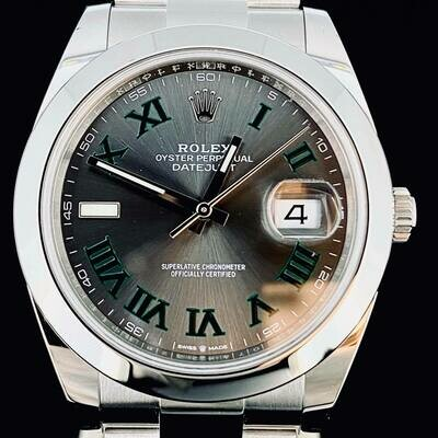 Rolex Datejust II, 41MM Steel Grey Wimbledon Dial UNWORN B&P2020