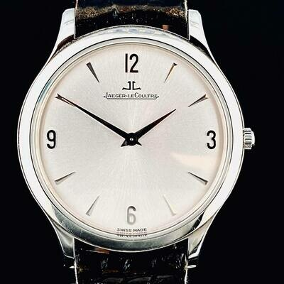 Jaeger-LeCoultre Master Ultra Thin 34MM Silver Dial Steel Watch B&P Like new