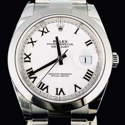 Rolex Datejust II 41MM Steel White Roman Dial