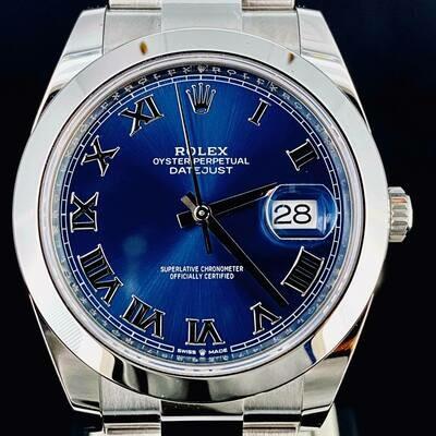 Rolex Datejust II 41MM Steel Blue Azzuro Roman Dial