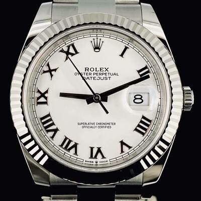 Rolex Datejust II, 40MM Steel White Roman Dial