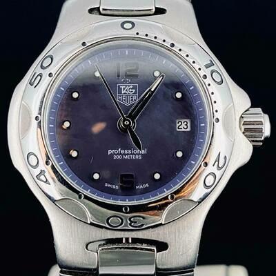 TAG Heuer Kirium Ladies 29MM BLUE MOP Dial - RARE- Steel Watch Mint