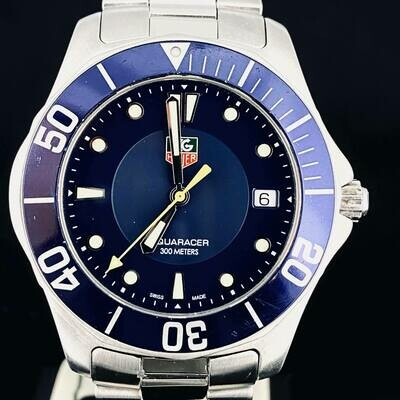 TAG Heuer Aquaracer 300M Professional Blue Dial 39MM Quartz Steel Date