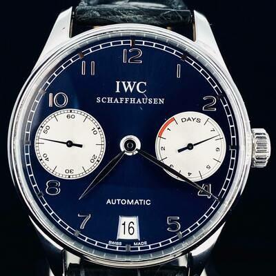 IWC Portuguese Automatic Chronograph Steel Blue Dial Laureus LTD
