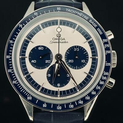 Omega Speedmaster Moonwatch Ck2998 Chronograph Steel 40MM Limited Edition Blue/White Dia