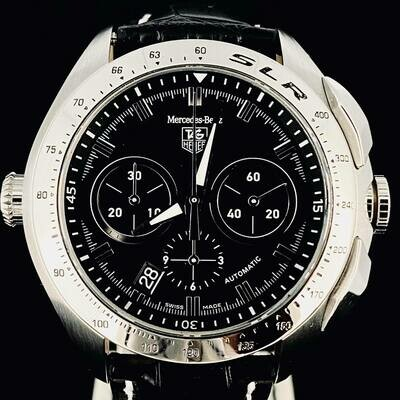 TAG Heuer Mercedes Benz Slr Limited Edition 3500 Pieces Chronograph 45MM Steel -2 Clasps- Box Only