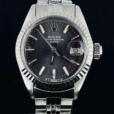 Rolex Datejust lady's Oyster Perpetual Date 26mm Fluted Bezel Jubilee Bracelet Mint