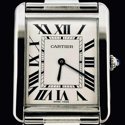 Cartier Tank Solo 27MM Steel Quartz Fullset B&P2013 - TOP Condition