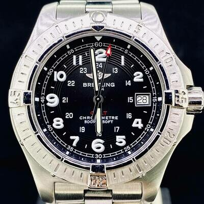 Breitling Colt Black Dial Chronometer 500M Quartz 41MM Steel Watch B&P fullset Very Good Condition