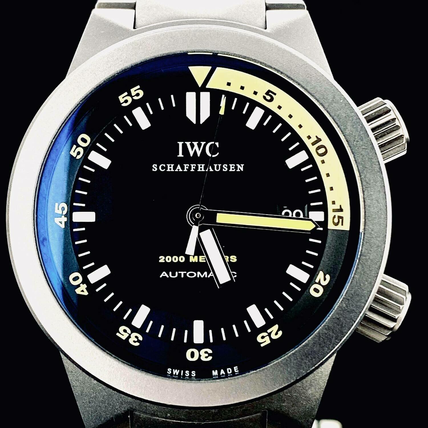 IWC Aquatimer 2000 Meters Diving Full Titanium Watch 42MM Automatic Fullset B&P2011
