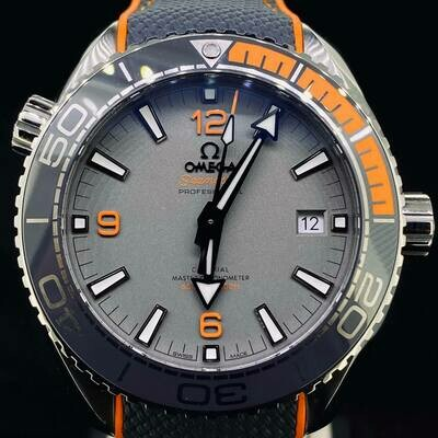 Omega Seamaster Planet Ocean 600M Titanium Grey/Orange 43.5MM Co Axial Unworn B&P2020