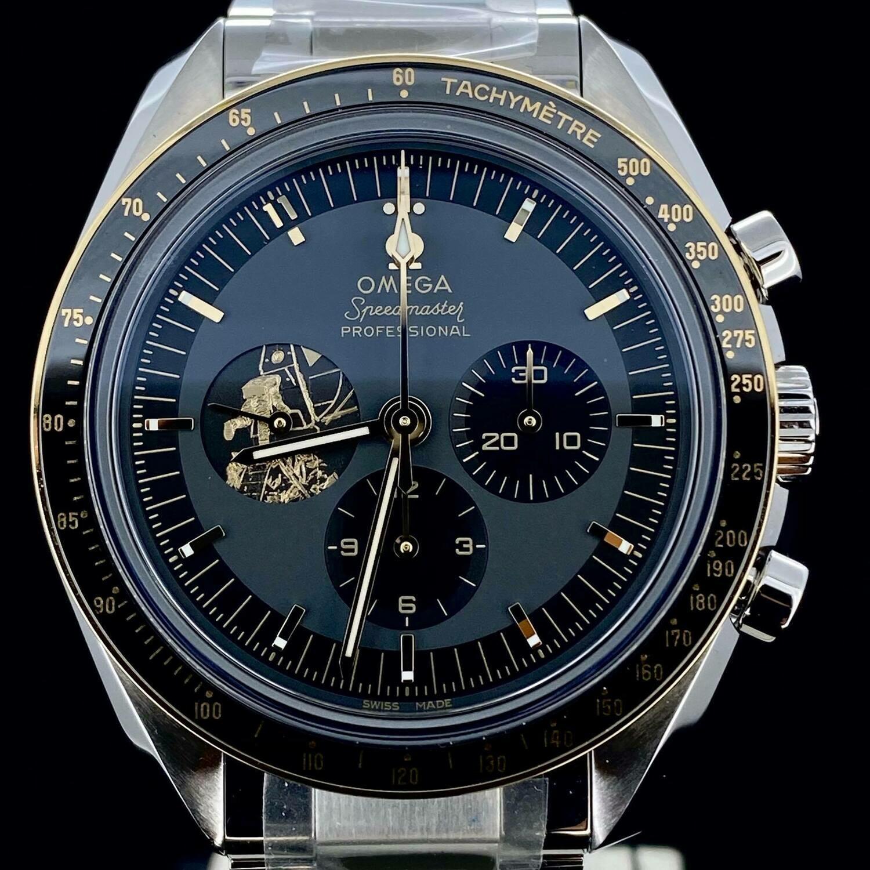 Omega Speedmaster Professional Moonwatch Apollo 11 50th Anniversary Steel&Gold 42MM Unworn Stickers