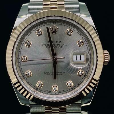 Rolex Datejust II 41MM Sundust Diamond Dial Jubilee Bracelet Rose Gold/Steel B&P2019 Unwor