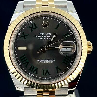 Rolex Datejust II, 41MM Grey Wimbledon Dial Yellow Gold/Steel Jubilee Bracelet B&P2020