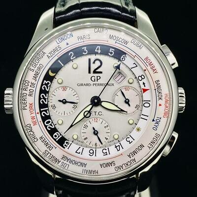 Girard Perregaux World Time Steel WW.TC Limited Edition 500 Pieces 43MM Complete Full Set Like New 2015