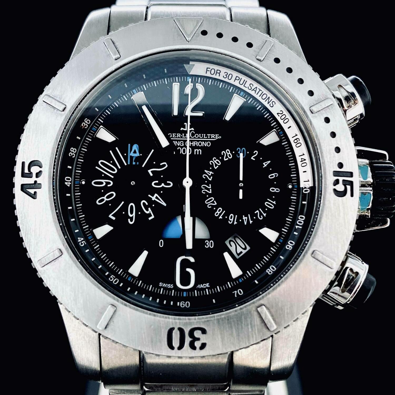 Jaeger-LeCoultre Master Compressor Diving Chronograph 1000M Full Titanium Bracelet 44MM Watch B&P2013 MINT
