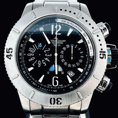 Jaeger-LeCoultre Master Compressor Diving Chronograph 1000M Full Titanium Bracelet 44MM Watch B&P2013 MINT