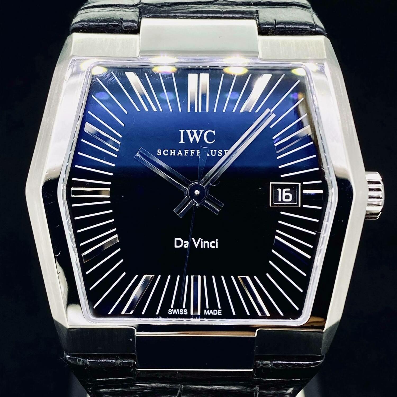 IWC Da Vinci Vintage Automatic Black Dial Steel 41MM Watch B&P Fullset 2010 Very Good
