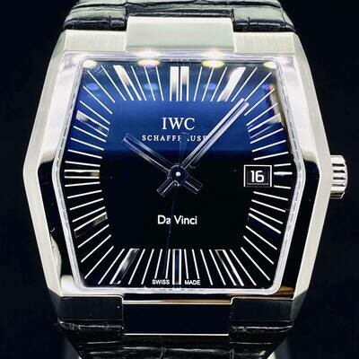 IWC Da Vinci Vintage Automatic Black Dial Steel 41MM Watch B&P Fullset 2010 Very Good