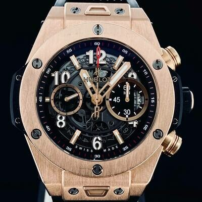 Hublot Big Bang Unico King 18KT Rose Gold Skeleton Chronograph 45MM Flyback Watch - Box Only