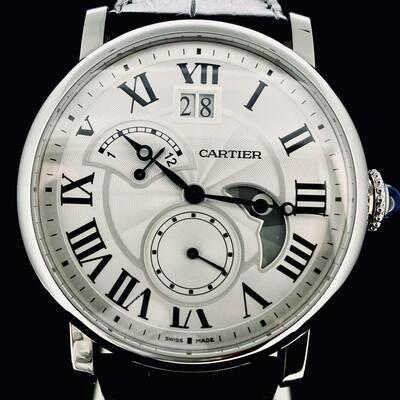 Cartier Rotonde de Cartier 42MM Steel Automatic Retrograde Mechanical Watch B&P Fullset MINT