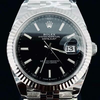Rolex Datejust II 41MM Black Dial Steel/White Gold Bezel Jubilee Bracelet B&P2020