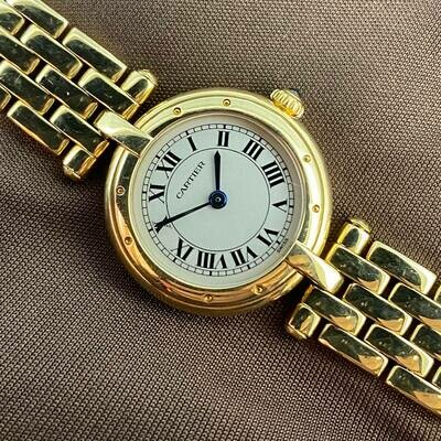 Cartier Panthere Ronde 18kt Yellow Gold 24MM Quartz White Dial B&P1999 MINT Condition Like NEW