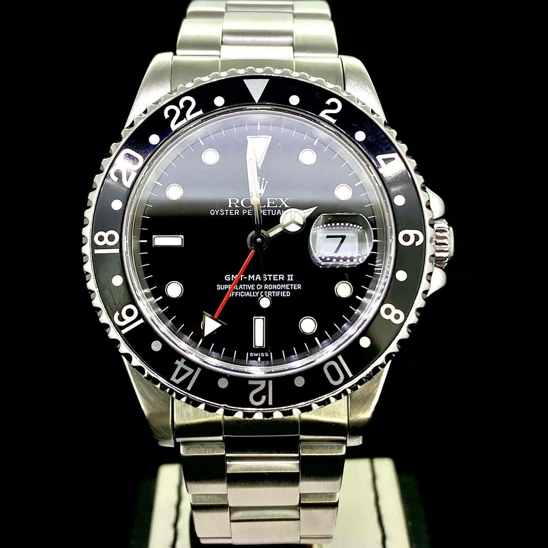 Rolex GMT-Master II 40MM Steel Black Dial & Bezel '16710' '1999 Swiss Only' Box - Mint Condition
