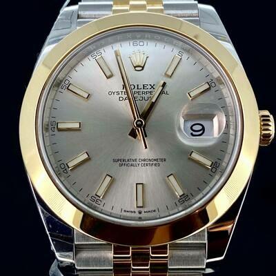 Rolex Datejust 41MM Yellow Gold/Steel Grey Silver Dial Jubilee Bracelet B&P2019 Unworn