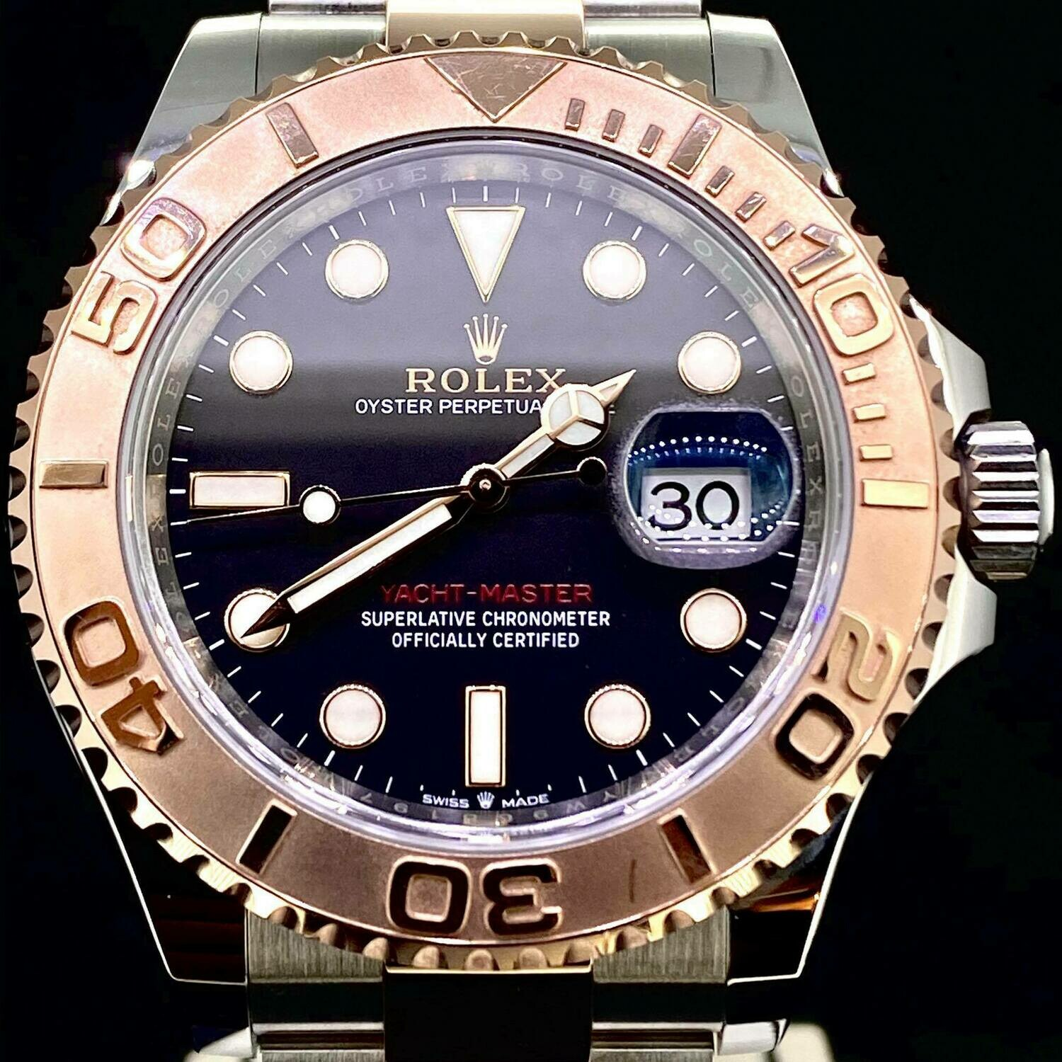 Rolex Yacht-Master II 40MM Rose Gold/Steel Black Dial B&P2020 - NEW E_CARD - Mint Condition