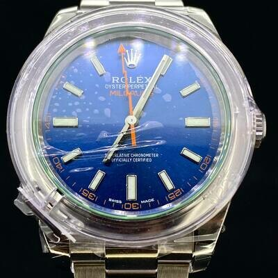 Rolex Milgauss ''Z-Blue'' Dial Steel 40MM Watch B&P2020