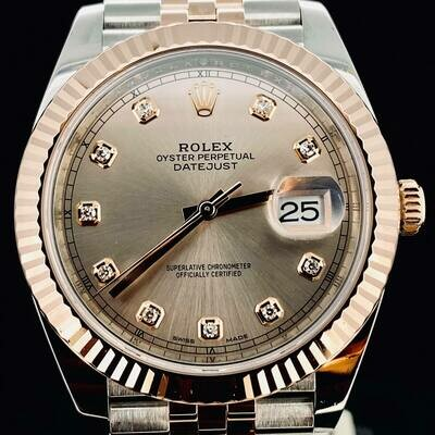 Rolex Datejust II 41MM Rose Sundust Dial 18kt Rose Gold/Steel Jubilee BOX ONLY 2018 - Hot Price
