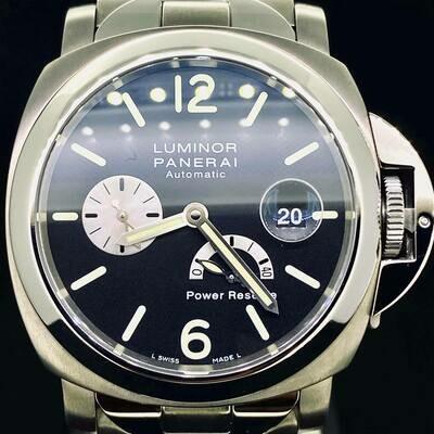 Panerai Luminor Power Reserve Black Dial 44MM Full Titanium/Steel Watch B&P2012 Limited 400PCS